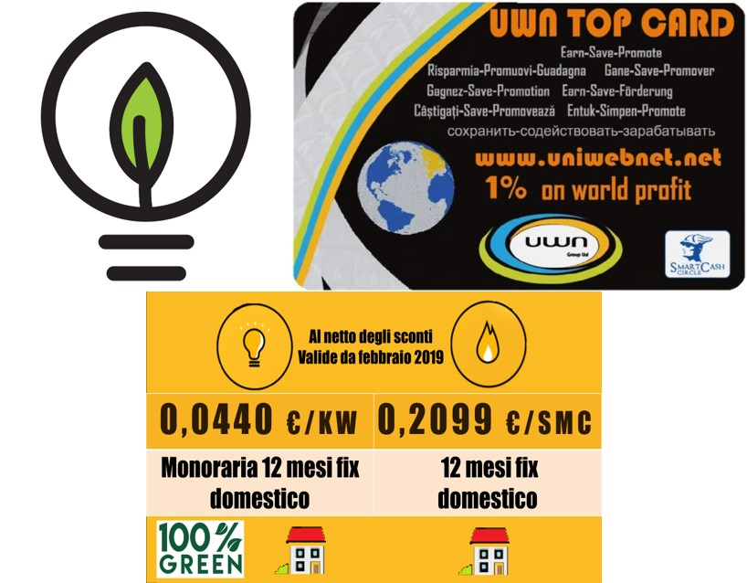Luce & Gas con Top Card
